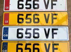 656VF private registration on retention. Timeless and prestigious plate