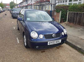 Volkswagen Polo, 2003 (03) blue hatchback, Manual Diesel, 48000 miles