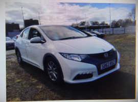 Honda Civic, 2013 (62) 5dr Hatchback, Part Ex Welcome