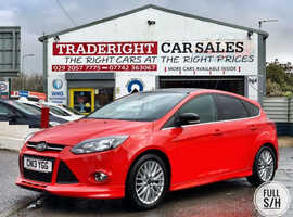 2013/13 Ford Focus 1.6 TDCi Zetec S finished in Race Red.  62563 miles