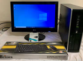 Fast HP Elite 8000 Small Form Computer Desktop PC & LG 20 LCD Widescreen