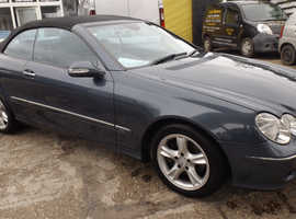Mercedes Clk, 2004 (04) Blue Convertible, Automatic