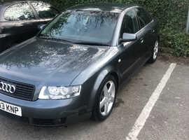 Audi A4, 2003 (03) Grey Saloon, Manual Petrol, 121,400 miles