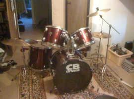 CB drum kit & cymbals