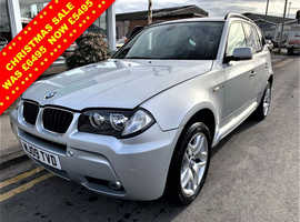 BMW X3, 2009 (09) Silver Estate, Manual Diesel, 122,803 miles