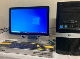 SSD Fast HP Pro I3 3130 Computer Desktop PC & HP 19 LCD Widescreen