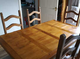 Soild Wood table and 6 chairs