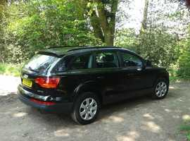 Audi Q7, 2008 (08) Black Estate, Automatic Diesel, 104,000 miles