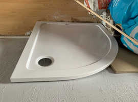 New shower tray porcelain