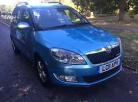 Skoda ROOMSTER Greenline, 2011, 1.2 TDI diesel, 81000 miles, full history, two keys, A/C