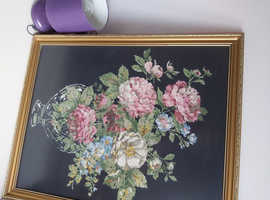 Beautiful large framed tapestry