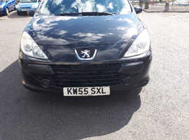 Peugeot 307, 2006 (55) Black Hatchback, Manual Petrol, 112,284 miles