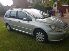 Peugeot 307, 2003 (52) Silver Estate, Manual Diesel, 190,000 miles