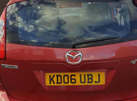 Mazda MAZDA 5, 2006 (06) Red MPV, Manual Petrol, 120,000 miles