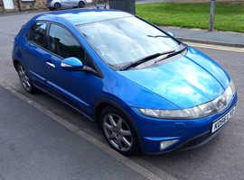 Honda Civic, 2007 (56) Blue Hatchback, Manual Petrol, 187,079 miles