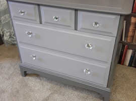 Vintage Chest of Drawers . Refurbished Stag.