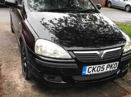 Vauxhall Corsa, 2005 (05) Black Hatchback, Manual Petrol, 87,651 miles