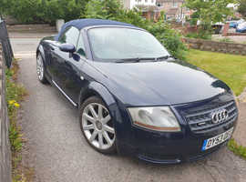 Audi TT, 2003 (53) Blue Convertible, Manual Petrol, 191,000 miles