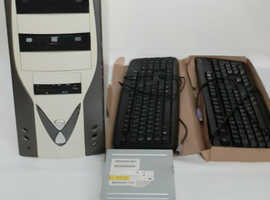 PC Computer Desktop Job Lot PC Case Keyboards & DVDR Drive Office Workplace