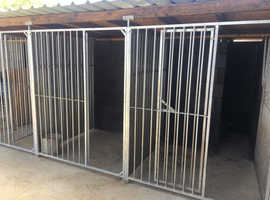 Galvanised dog panels