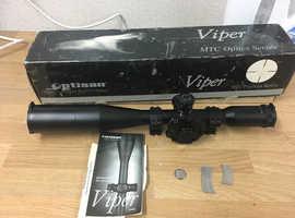 MTC viper 10x44 rifle scope with  illuminated reticle