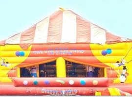 Circus themed bouncy castle