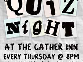 Quiz Night! Every Thursday - Win up to £50 in prizes