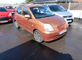 Kia Picanto, 2004 (54) Orange Hatchback, Manual Petrol, 90,000 miles