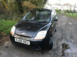 Chevrolet Matiz, 2006 (06) Black Hatchback, Manual Petrol, 52,686 miles