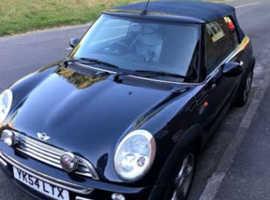 Mini MINI, 2004 (54) Black Convertible, Manual Petrol, 91,726 miles, full mot.
