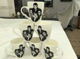 Elvis Presley fine china coffee cups