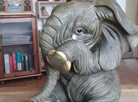 Limited edition large  crying elephant orniment