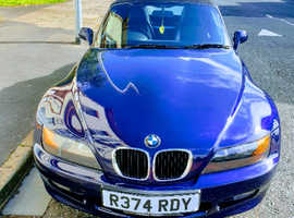 BMW Z3, 1998 (R) Blue Convertible, Manual Petrol, 102,450 miles