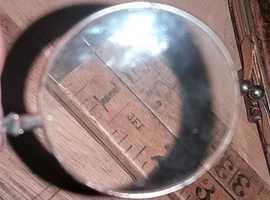 SOLD SOLD SOLD Antique small magnifier loop glass , could hang around neck if put on a cord or fine chain