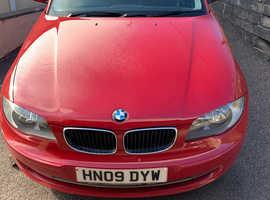 BMW 1 series, 2009 (09) Red Hatchback, Manual Diesel, 100,773 miles