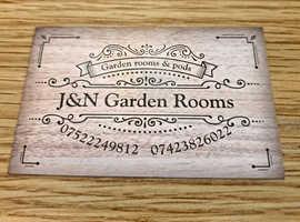 J&N garden rooms & pods
