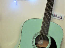Stretton Payne Acoustic finished in immaculate Sea Green.  Set up and New Qaulity Strings