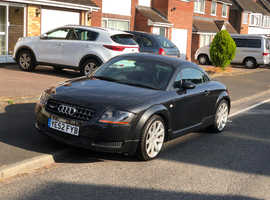 Audi TT, 2002 (52) Black Coupe, Manual Petrol, 103,000 miles