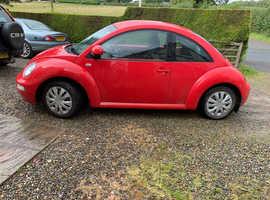 Volkswagen Beetle, 2002 (02) Red Hatchback, Manual Petrol, 0,125,000 miles