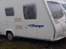 2007 BAILEY 5 SERIES FIXED DOUBLE BED 4 BERTH LIGHT VAN MAX TOWING WEIGHT 1184KG MOTOR MOVER /ACCESSORIES.