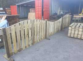 Tanalised Timber - Bowtop or Concave Boarded Fence Panels