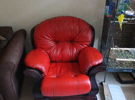 Gorgeous red leather sofa
