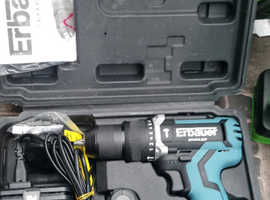 Erbaeur 18v hammer drill driver 2 batteries and charger