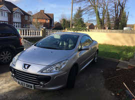 Peugeot 307CC, 2007 (57), 2.0HDI, Silver Coupe, Manual Diesel, 109,000 miles