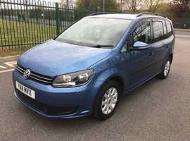 Volkswagen Touran, 2011 (11) Blue MPV, Manual Diesel, 130,000 miles