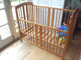 Beech wood cot being offered for free!