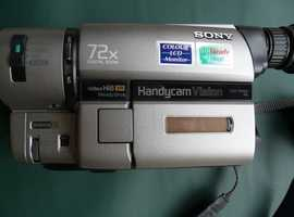 Sony TRV65E Hi8 XR SteadyShot HandyCam Complete in Original Box c/w Carry Case-Battery-3 Tapes VGC