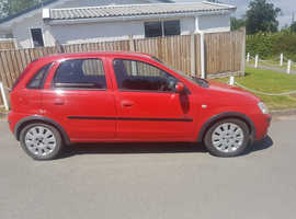 Vauxhall Corsa, 2004 (53) Red Hatchback, Manual Petrol, 80,000 miles