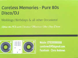 Careless Memories- Pure 80s disco