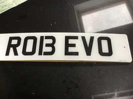 ROB EVO Private Number Plate Mitsubishi Evolution Robert Rob Robbie